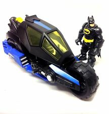 "Fisher Price IMAGINEXT BATBIKE to PLANE & BATMAN  5"" size toy action figure"