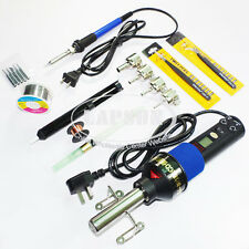 8018 220V-240V Adjustable Heat Hot Air Gun Station Tool + 60W Soldering Iron Kit