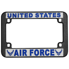US AIR FORCE PLASTIC MOTORCYCLE LICENSE PLATE FRAME - MADE IN THE USA!!!
