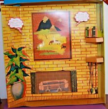 Vintage Barbie Reproduction #957 KNITTING PRETTY Diorama Cardboard 3D Background