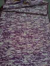 Purple White Scenic Same-komon Vintage Japanese Kimono Tsumugi Silk Fabric 50""