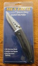 NEW Meyerco MACAMP35 Blackie Collins Comfort Grip Folding Knife 420 SS & Clip
