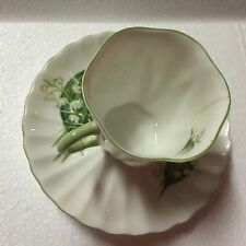 SHELLEY Demitasse Fine Bone China Cup & Saucer -Lily Of the Valley 13822 ENGLAND