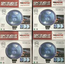 "ANGEL EYE BLUE PAIR 12V CAR 4 X 9"" CHROME SPOTLIGHTS 4X4 BOAT SPOT LIGHTS TRUCK"