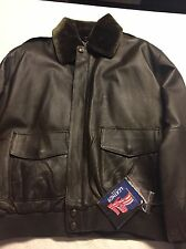 Medium Jacket A-2 Leather Bomber Jacket coat brown USA. New with tags