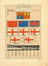 MARINA INGLESE FLOTTA INSEGNE GRADI BANDIERE SIGNS FLAGS ROYAL NAVY GRADES 1941
