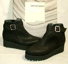 Jeffrey Campbell SARKUS platform ankle booties black Scales Suede leather 7M NEW