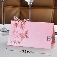 24pcs Pink Butterfly Laser Cut Wedding Party Table Name Place Cards Favor Decor