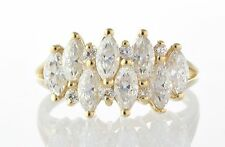 14k Yellow Gold Cubic Zirconia Ring Size 8-- 4.4g
