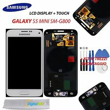 LCD TOUCH DISPLAY SCHERMO ORIGINALE BIANCO per SAMSUNG GALAXY S5 MINI SM-G800F