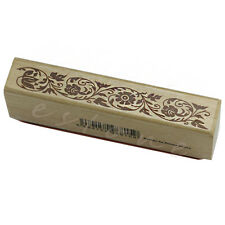 Retro Wooden Rubber Stamp Seal Flower Floral Lace Border Scrapbook Craft Card
