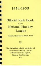 1934-35 Official Rule Book of the American Hockey Association AHA Reproduction