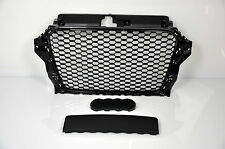 AUDI pour a3 8v 2012-2015 FRONT GRILL BARBECUE ajourées rs3 Look pare-chocs Anti-Chocs #212