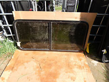 """RV Trailer Window, 48""""X22"""", Tinted, With Screens, With Trim Rings, Opens, #587"""