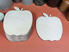 WOODEN APPLE Shapes 11.4cm (x10) laser cut wood cutouts crafts blank shape