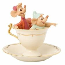 Lenox ~ Tea Party Pals Figurine ~ Cup Disney Cinderella Mice Gus Jaq NEW COA