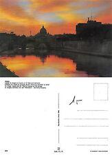 Roma - Castel Sant'Angelo e Cupola di S. Pietro al tramonto (A-L 090)