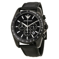 Emporio Armani Sigma Black Dial Chronograph Mens Watch AR6131