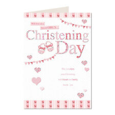 With Love On A Special Girl's Christening Day K2 Classics Greeting Card Girls