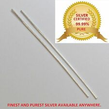 "FINEST & PUREST SILVER WIRE RODS,1.5MM THICK 5"" SILVER WIRE FOR COLLOIDAL SILVER"