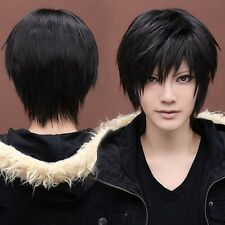 Vogue Sexy Men's Handsome Black Short Straight Cosplay Party Hair Wig Full Wigs
