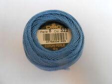 DMC Perle 8 Sfera di cotone colore blu numero 322
