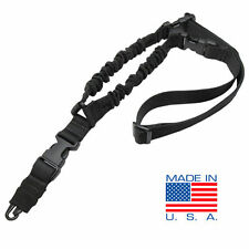 CONDOR Cobra Double Bungee 1 Point Rifle Sling with HK Snap Hook - Black #US1001