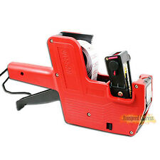 MX-5500 8 Digits Red Price Gun Tag Machine 1 Line Labeler 1 Roll * Labels & Ink