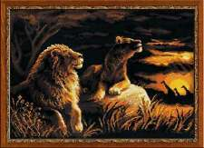"Counted Cross Stitch Kit RIOLIS - ""Lions in the Savannah"""
