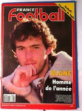 b)France Football du 1/1/1991; Blanc l'homme e l'année/ L'audition de Tapis