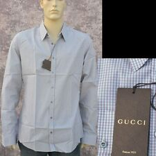GUCCI New sz 16 - 41  Authentic Web Colors GRG Mens Designer Dress Shirt Slim