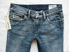 Women's Diesel Liv Straight Leg slim fit  MID blue wash jeans W25 L34 25/34