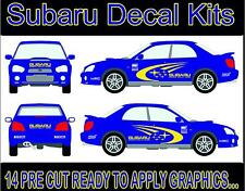 Subaru Kit De Etiquetas De 14 X vehículo Stickers Calcomanías De Vinilo De Corte Graphics Set 001