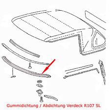 Mercedes Benz R107 SL W107 Abdichtung / Gummidichtung Verdeck / Soft-Top vorne