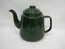 New Falcon Enamel 14cm 1.5ltr Teapot Camping Dark Green