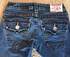 True Religion Jeans Billy Skinny Leg Flap Pocket Stretch Size 24 Women