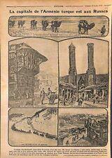 Erzurum Erzéroum Theodosiopolis Capital Arménie Armenia Camels Russia WWI 1916