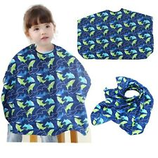Child Kid Dolphin Hair Cutting Barber Cape Hairdressing Salon Gown Bib Apron New