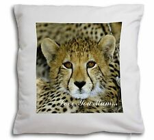 Baby Cheetah 'Love You Mum' Soft Velvet Feel Scatter Cushion Chris, AT-18lym-CPW