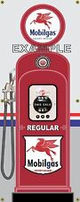 MOBIL GAS PUMP REGULAR PEGASUS RETRO GAS STATION BANNER GARAGE SIGN ART 2 X 5