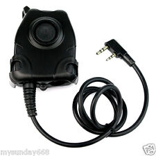 PTT Cable For KENWOOD K Plug for Z Tactical Comtac II Noise Reduction Headset