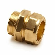 "22mm Compression x 3/4"" Inch BSP Male Iron Adaptor / Coupler 