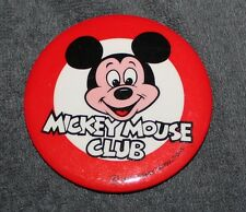 """NICE VINTAGE DISNEY MICKEY MOUSE CLUB PIN BACK BUTTON 3"""""""