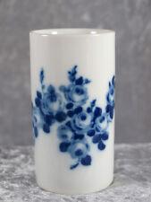Wallendorf 1764 Porzellan Vase Designvase Nr 2184 10 cm Kobalt Rose 70er Jahre
