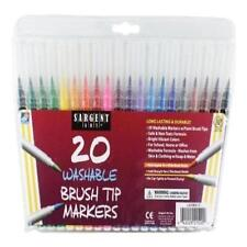 Sargent Art 20 Washable BRUSH TIP MARKERS 22-1520 New Gift