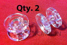 Qty 2 pieces  RV Pleated Shade Hold Down Spools - Tensioner - Clear