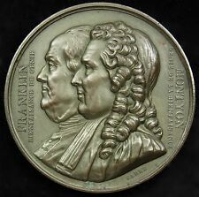 1833 French Medal Benjamin Franklin Baron de Montyon 41 mm Bronze Barre