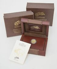 2008-W 1/10 oz Proof Gold Buffalo Coin - with Box and Certificate