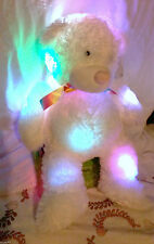 Light up Teddy Bear Cuddle Glowers NightLight Glow Changing Colours White 26inch