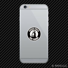 Fossil Fuels Are Yummy Cell Phone Sticker Mobile hot rod vintage parody black